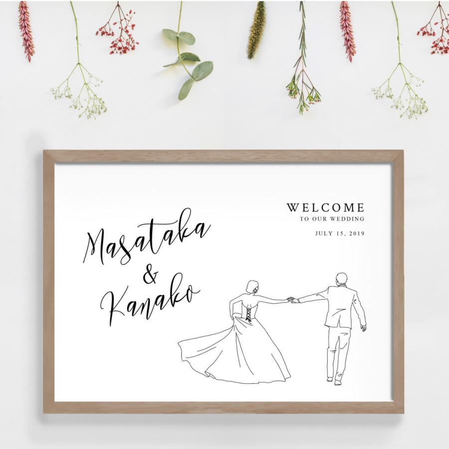 A3 ウェルカムボード ポスター イラスト 送料無料 結婚式 W 105s ウェディングストア Studio Monaca 通販 Yahoo ショッピング