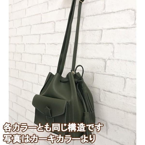 コロンとかわいいバケットバッグ (キャメル)レディースショルダーバッグ|c-factory|08