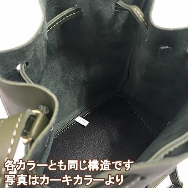 コロンとかわいいバケットバッグ (カーキ)レディースショルダーバッグ|c-factory|03