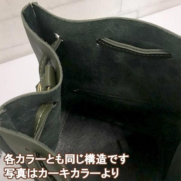 コロンとかわいいバケットバッグ (カーキ)レディースショルダーバッグ|c-factory|04