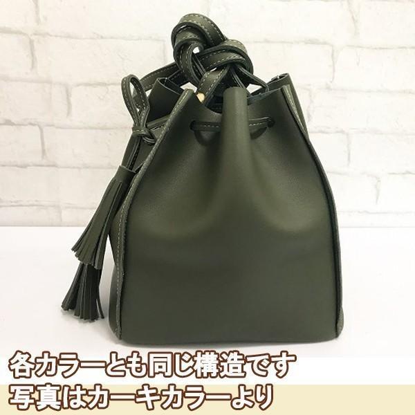 コロンとかわいいバケットバッグ (カーキ)レディースショルダーバッグ|c-factory|07