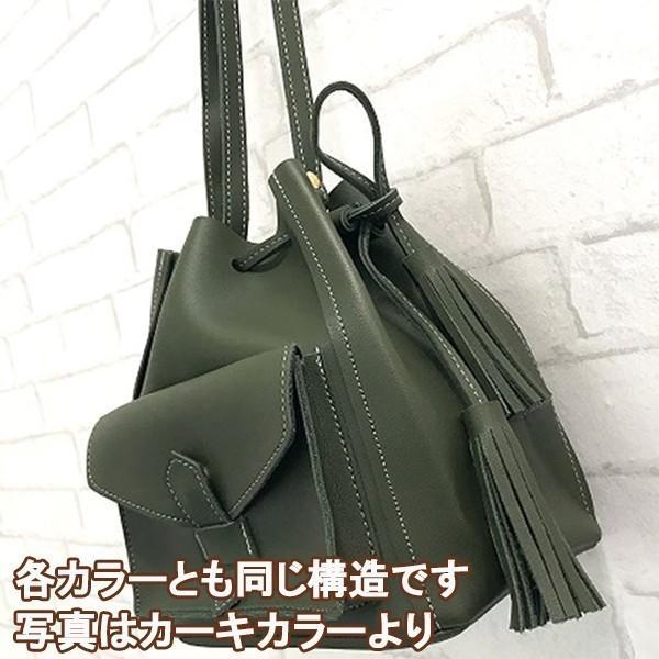 コロンとかわいいバケットバッグ (カーキ)レディースショルダーバッグ|c-factory|09
