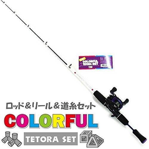 テトラロッド ファイブスター カラフル テトラ セット 110 (パープル) / 探り釣り 穴釣り ちょい投げ 竿 c-o-s-shop