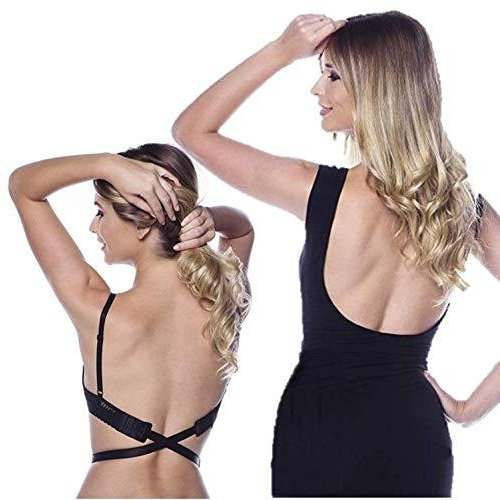 [XPデザイン] 背中開き オープンバック ドレス ローバック ブラ紐 ストラップ ブラストラップ エクステンダー (黒・白・肌色 3色セット)|c-o-s-shop|03