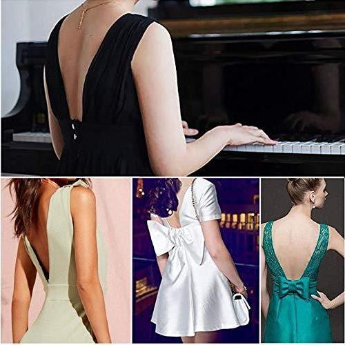 [XPデザイン] 背中開き オープンバック ドレス ローバック ブラ紐 ストラップ ブラストラップ エクステンダー (黒・白・肌色 3色セット)|c-o-s-shop|04