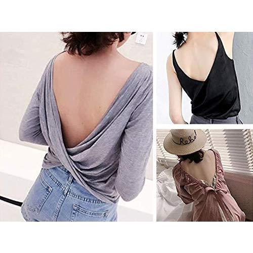 [XPデザイン] 背中開き オープンバック ドレス ローバック ブラ紐 ストラップ ブラストラップ エクステンダー (黒・白・肌色 3色セット)|c-o-s-shop|07