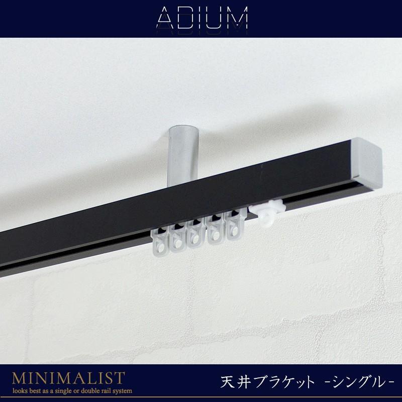 カーテンレール アイアンレール ADIUM ミニマリスト 天井ブラケット 2〜3mまで