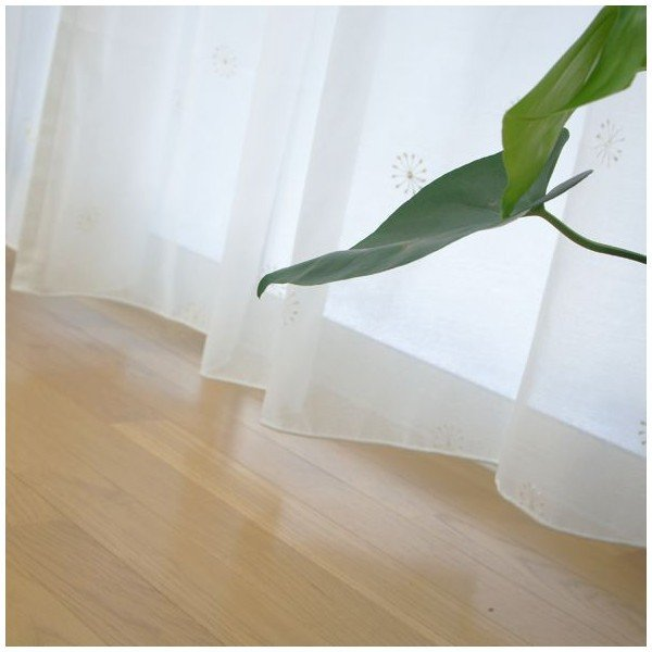 レースカーテン/はなび サイズオーダー 巾251〜300cm×丈151〜200cm