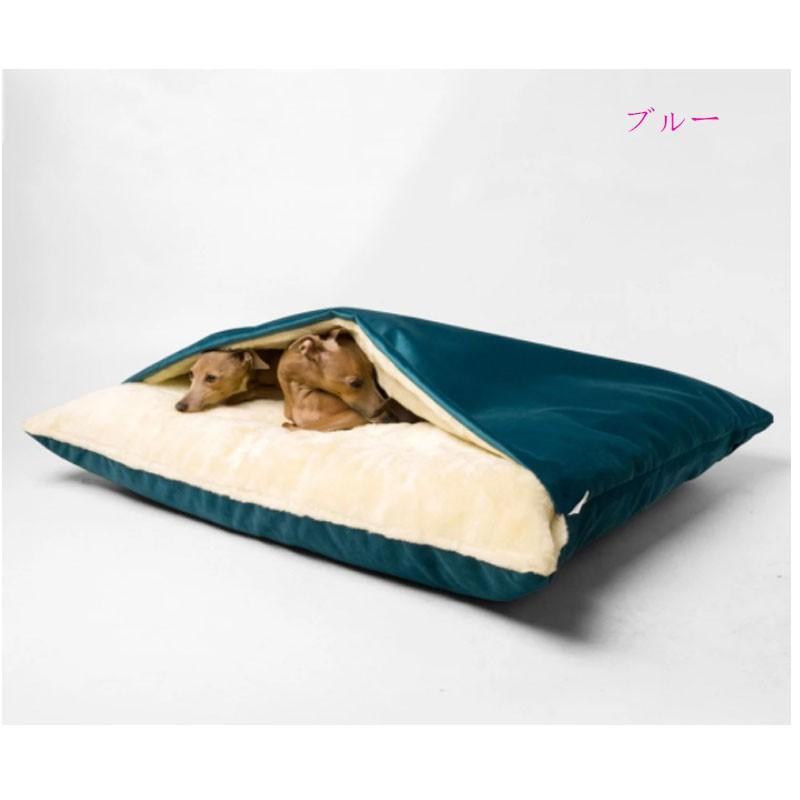ペットベッド 犬 猫 ペットクッション 寝袋 暖かい もぐりこめる 布団 マット ブランケット 小型犬 超小型犬|cactus0812|08