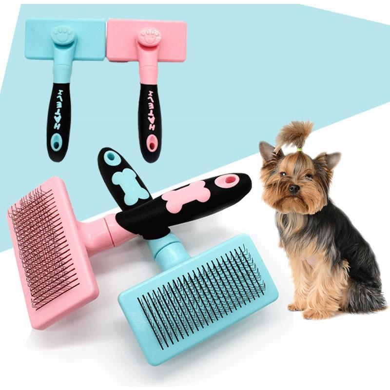グルーミング ペットブラシ 犬 猫 抜け毛 対策 片手 簡単|cactus0812