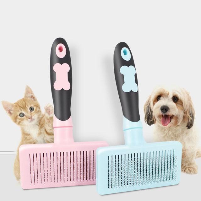 グルーミング ペットブラシ 犬 猫 抜け毛 対策 片手 簡単|cactus0812|06