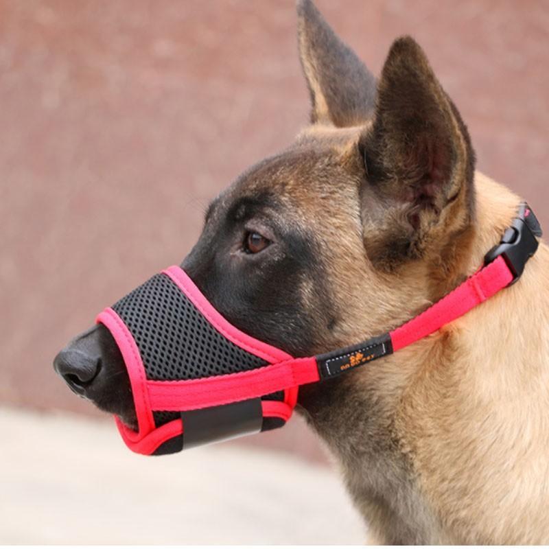 犬用 ペットマスク 安全カバー マナーマスク メッシュ 無駄吠え防止グッズ お散歩 訓練 練習 トレーニング 口輪 しつけ用品 ペット用品 くちばし 調整可|cactus0812