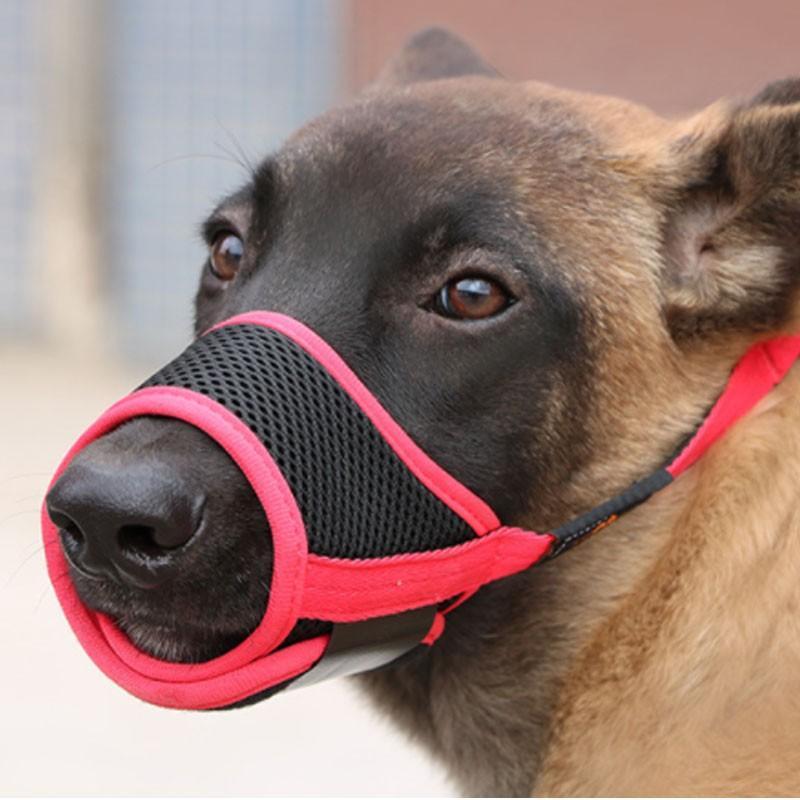 犬用 ペットマスク 安全カバー マナーマスク メッシュ 無駄吠え防止グッズ お散歩 訓練 練習 トレーニング 口輪 しつけ用品 ペット用品 くちばし 調整可|cactus0812|02