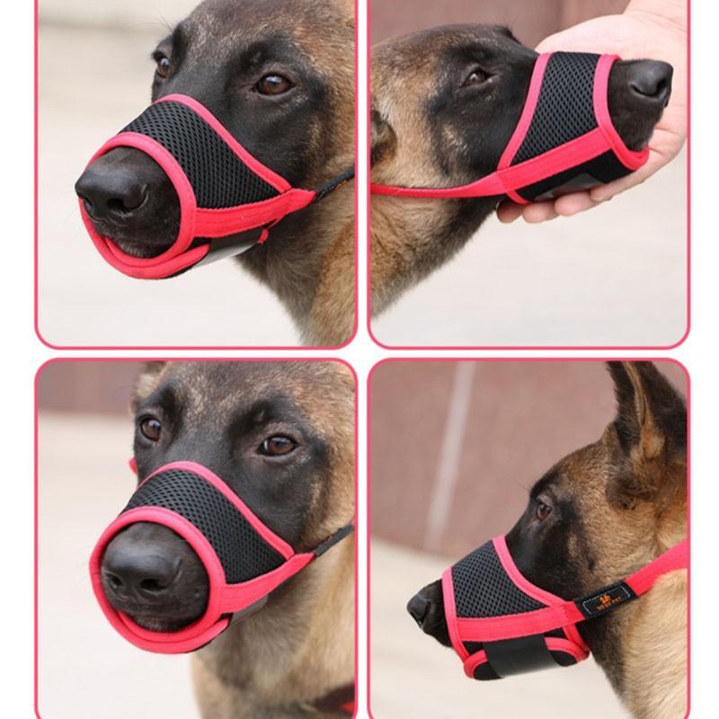 犬用 ペットマスク 安全カバー マナーマスク メッシュ 無駄吠え防止グッズ お散歩 訓練 練習 トレーニング 口輪 しつけ用品 ペット用品 くちばし 調整可|cactus0812|05
