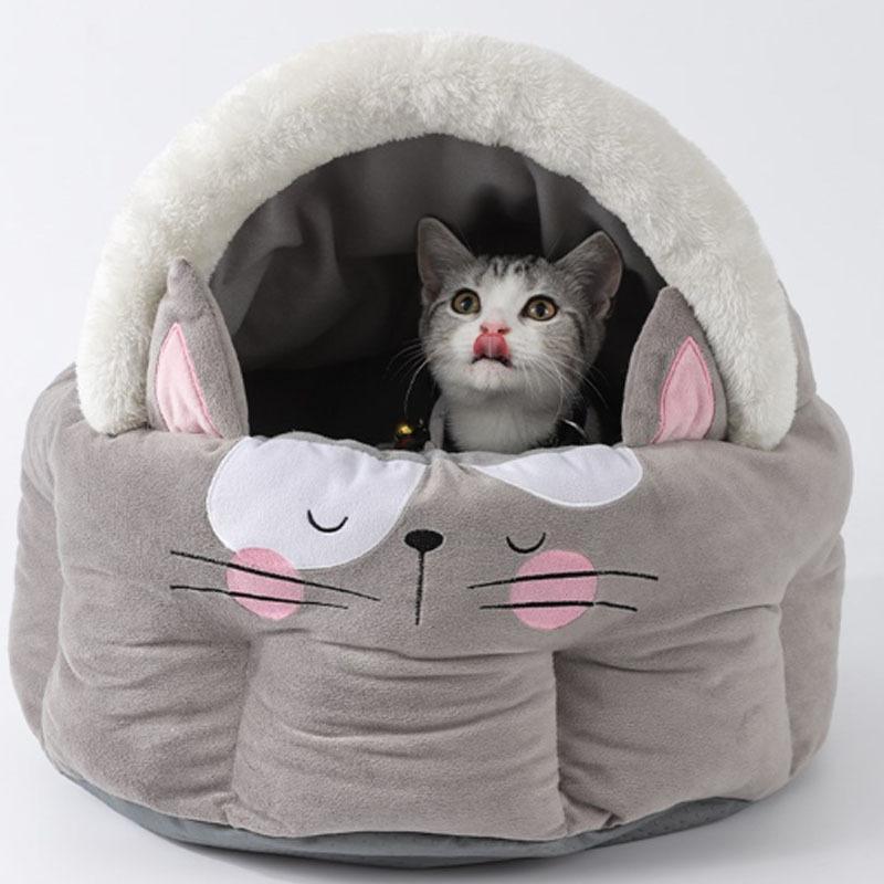 キャットハウス ドーム型 ペットベッド 猫ベッド 猫用ベッド 室内用 猫 ネコボックスベッド ペットハウス ペットソファ ネコ ペット用 キャットベッド|cactus0812|04