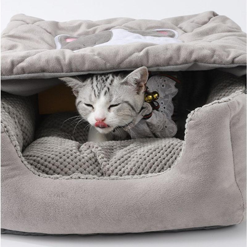 キャットハウス ドーム型 ペットベッド 猫ベッド 猫用ベッド 室内用 猫 ネコボックスベッド ペットハウス ペットソファ ネコ ペット用 キャットベッド|cactus0812|05
