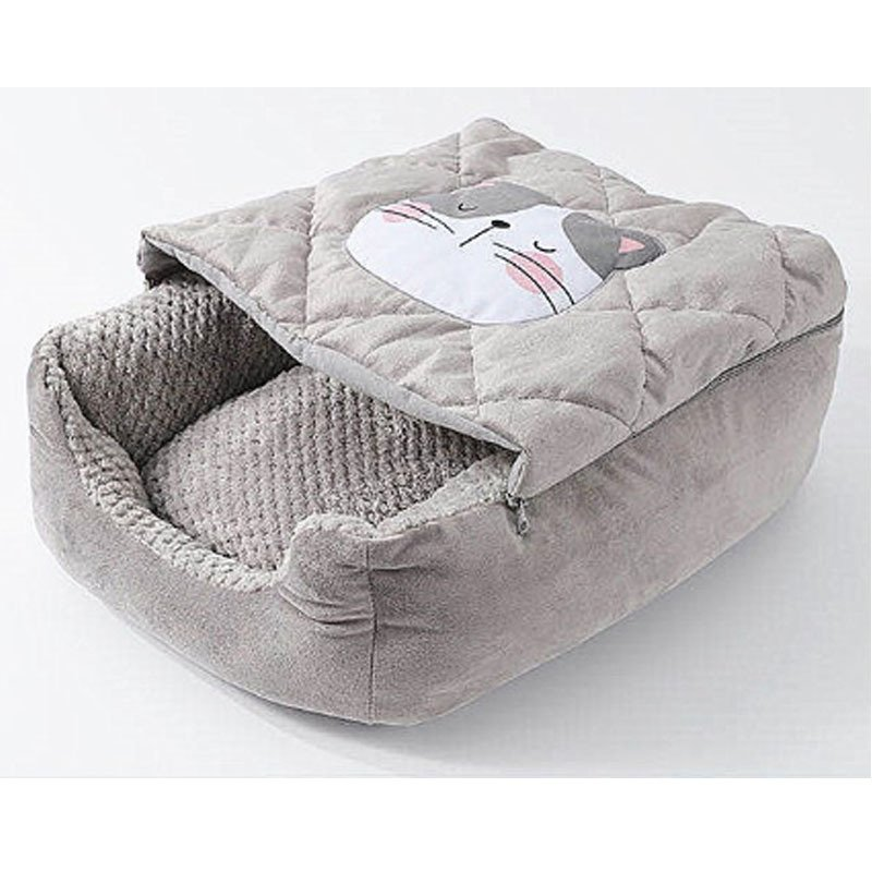 キャットハウス ドーム型 ペットベッド 猫ベッド 猫用ベッド 室内用 猫 ネコボックスベッド ペットハウス ペットソファ ネコ ペット用 キャットベッド|cactus0812|06