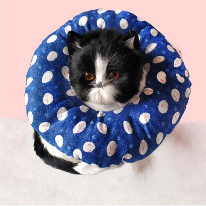ドーナツ エリザベスカラー 猫 犬 ソフト 傷舐め防止 引っ掻き防止 傷口保護 手術後のケア 柔らかい 軽量 ペット 可愛い ふわふわ 手術 怪我 術後ケア cactus0812 04