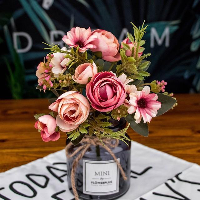 造花 アートフラワー 一束 花束 人工フラワー フェイクフラワー イミテーションフラワー フラワーアレンジメント 人造フラワー ブーケ 花飾り 装飾|cactus0812