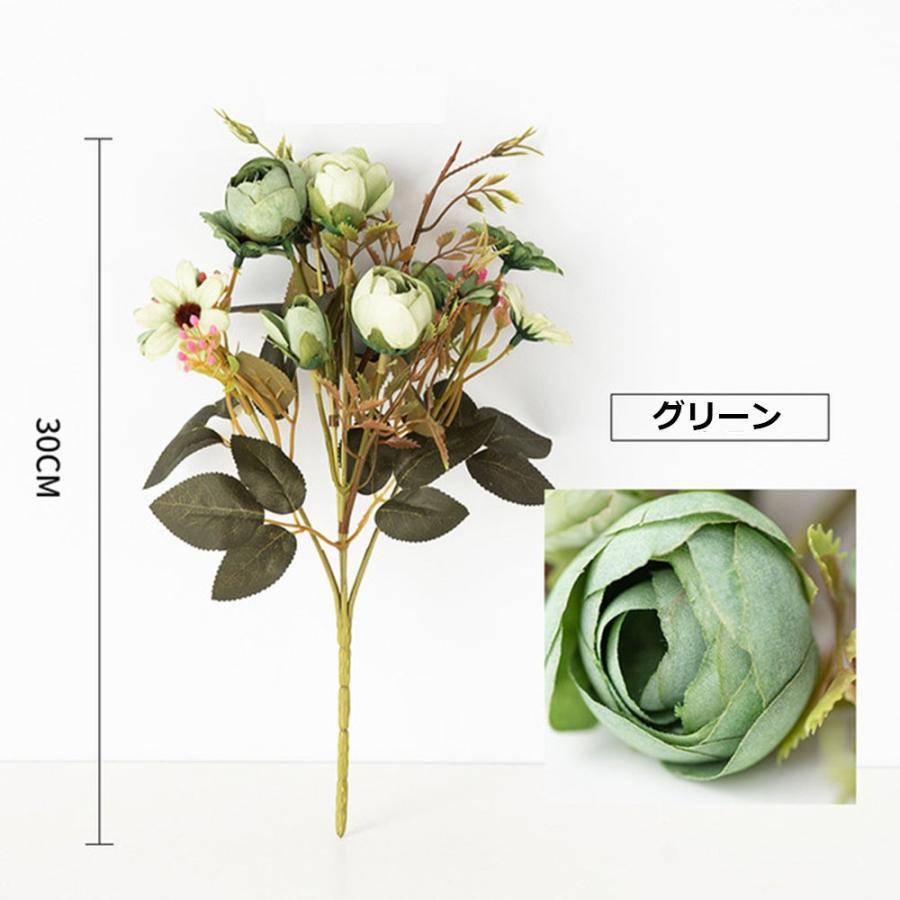 造花 アートフラワー 一束 花束 人工フラワー フェイクフラワー イミテーションフラワー フラワーアレンジメント 人造フラワー ブーケ 花飾り 装飾|cactus0812|06