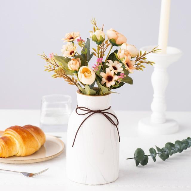 造花 アートフラワー 一束 花束 人工フラワー フェイクフラワー イミテーションフラワー フラワーアレンジメント 人造フラワー ブーケ 花飾り 装飾|cactus0812|09