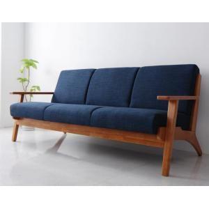 北欧デザイン木肘ソファ【Lulea】ルレオ 3P [00]