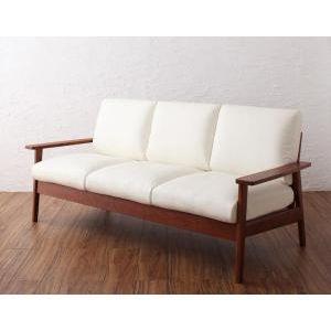 天然木シンプルデザイン木肘ソファ【MUKU-褐色】ムク・ブラウン 3P [00] [00]
