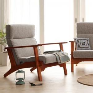 ハイバックリクライニング木肘ソファ【Luce】ルーチェ 1P [00]