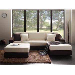グランドサイズコーナーカウチソファ【Loddi】ロッディ セット(オットマン付)[B][00]