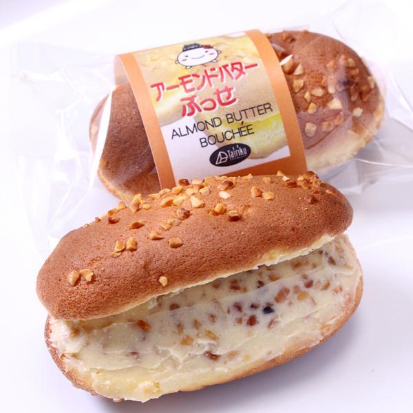 アーモンドバターブッセ 12個 簡易サービス箱入り☆ 超人気のアーモンドバターをたっぷり入れ込んだふんわりブッセ☆|cake-tairiku|03