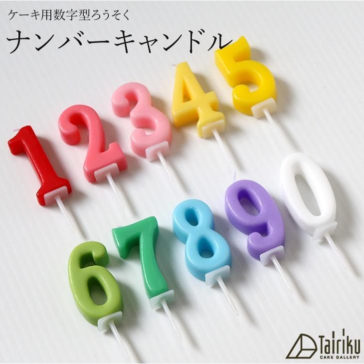 ケーキ用数字型ろうそく ナンバーキャンドル|cake-tairiku