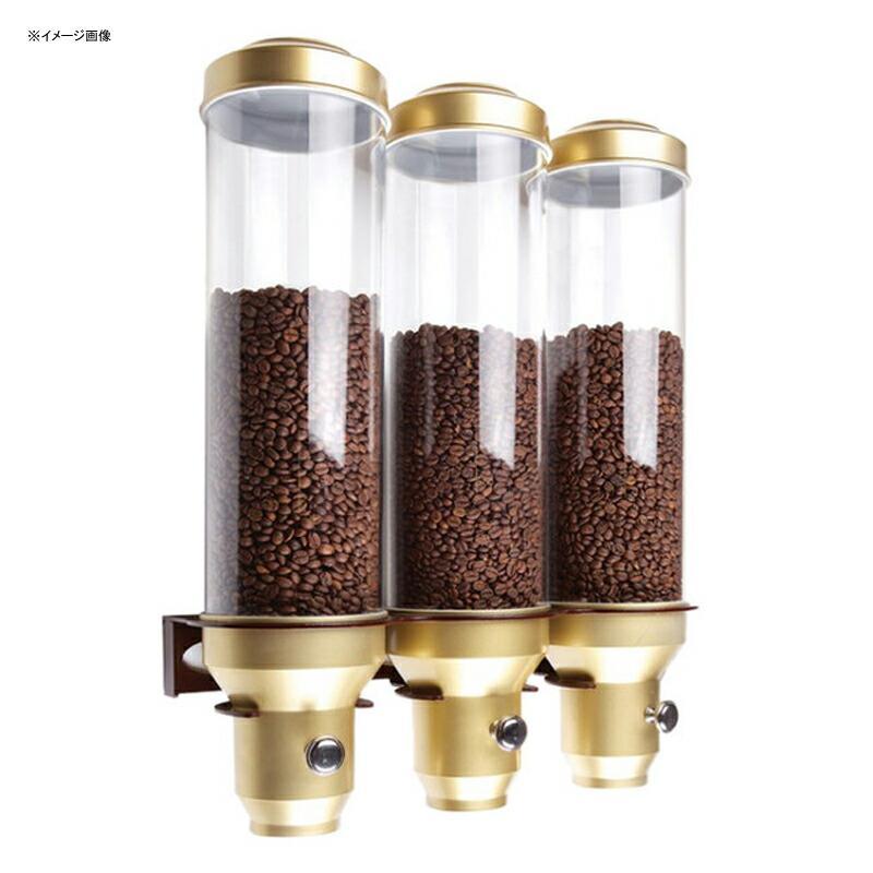 コーヒー豆 ディスペンサー サーバー 壁掛け 3連 各4.5L トリプル ゴールド 金
