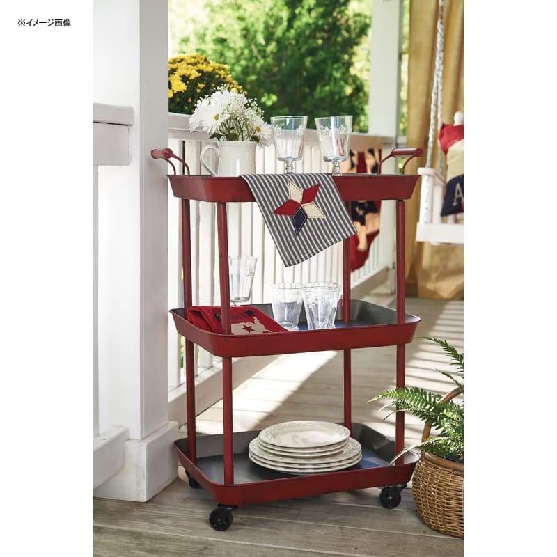 ワゴン レトロ アンティーク スチール バーカート 2段 Park Designs Bar Cart