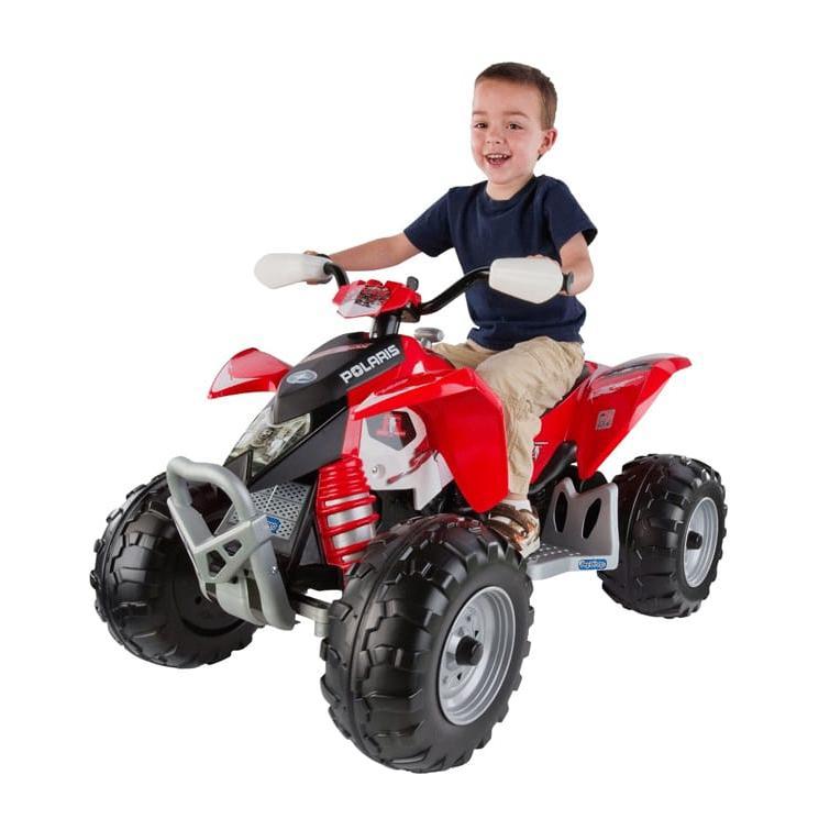 【組立要】ペグペレゴ ポラリスアウトロー ATV 電動自動車 12Vバッテリー付 対象年齢2·6才 電気自動車 電動カー
