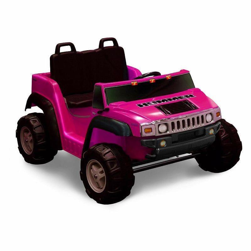 【組立要】キッドモーターズ 2人乗りハマー H2ガールズ 子供用電気自動車 12Vバッテリー 電動カー