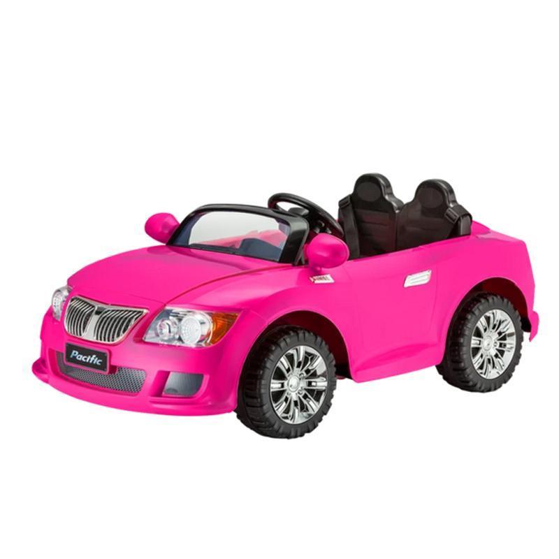 乗用玩具 子供用 電動自動車 ピンク コンバーチブル オープンカー 乗り物 電気 12V