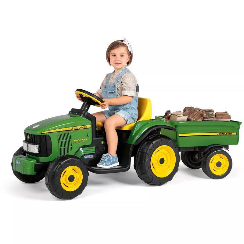 ペグペレーゴ ファーム トラクター & トレーラー おもちゃ 自動車 電動カー