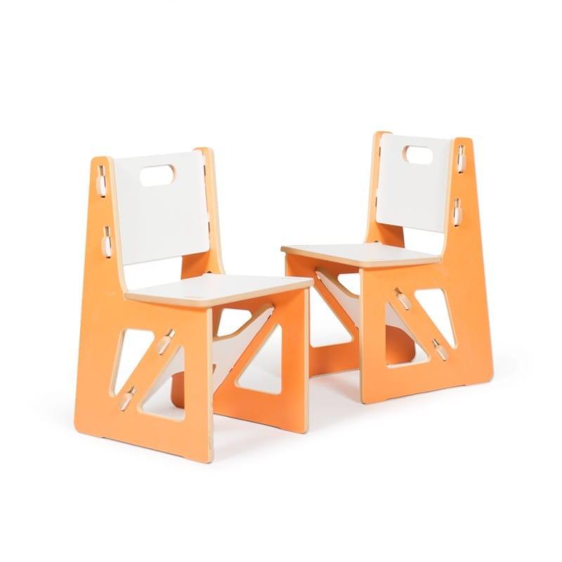 子供用椅子 キッズチェアー オレンジ2脚 Kid's Chair Sprout