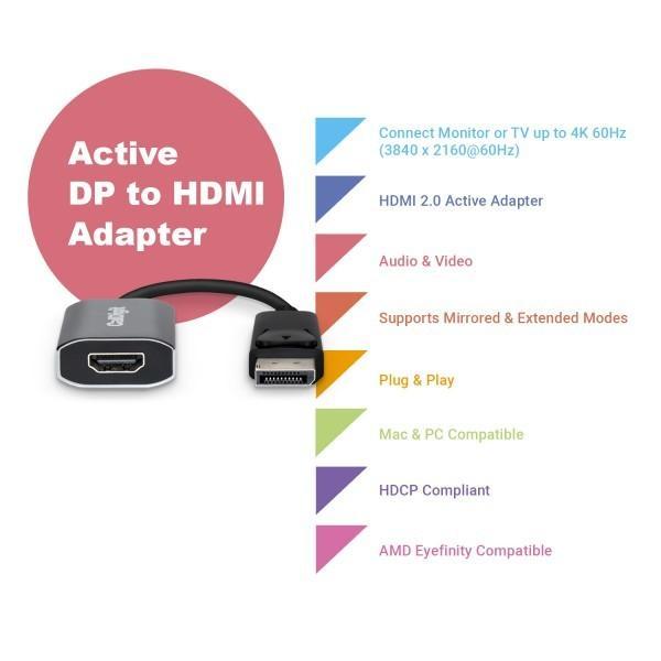 CalDigit DisplayPort 1.2 to HDMI 2.0アクティブ変換アダプタ|caldigit-japan|05