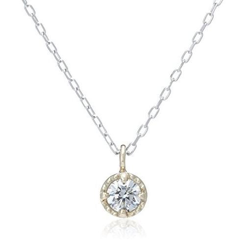 想像を超えての リエ Lier K10 ダイヤモンド0.1ct ミル枠 チェーンホワイトゴールド ネックレス ta-uddm-di-ygwg, アグリズ 81ea4127