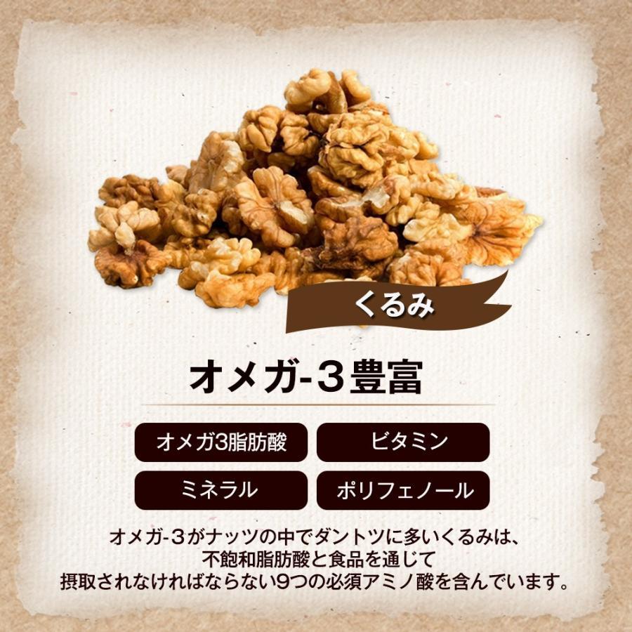 おつまみ ポイント消化 送料無料 ミックスナッツ 3種 850gくるみ アーモンド カシューナッツ 無塩 無油 無添加 チャク付き袋 保存食 備蓄食 常備食|calinuts|05