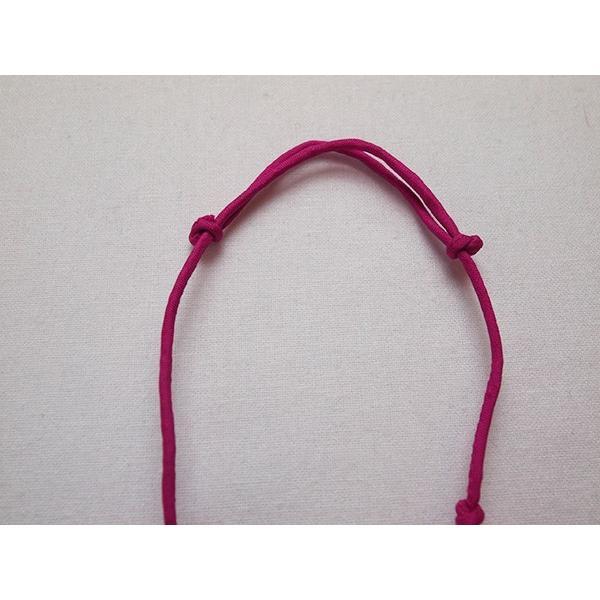 ハンドメイドのシルクアクセサリー ビーズネックレス5連 単色 ピンク cambodia 03