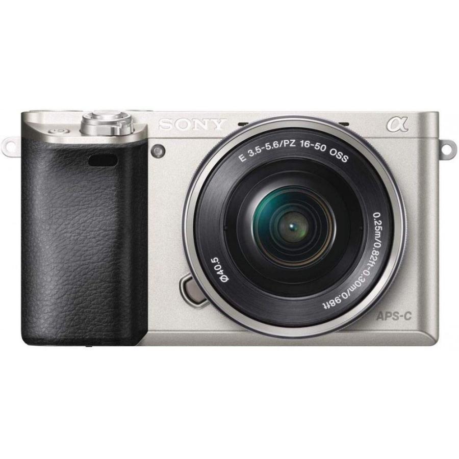 ソニー SONY  α6000 パワーズームレンズキット シルバー ILCE-6000L S 新品SDカード付き <プレゼント包装承ります>