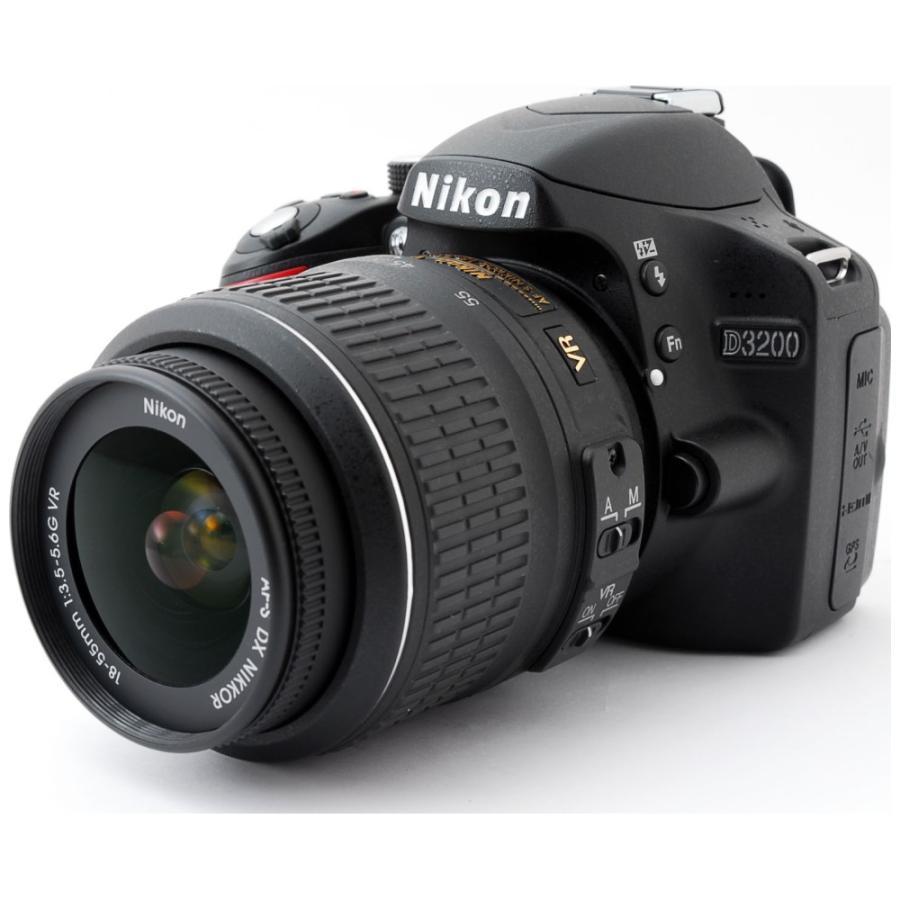 一眼レフカメラ 中古 Nikon ニコン D3200 ブラック レンズキット|cameracantik