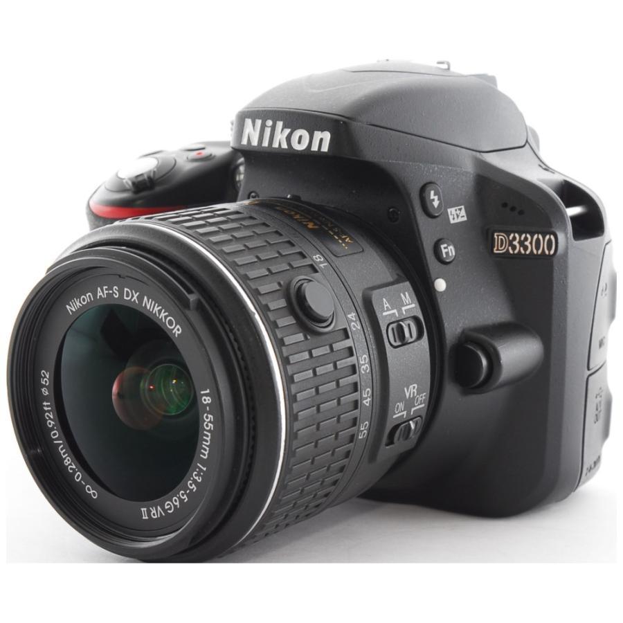 カメラ 一眼レフ Nikon ニコン D3300 ブラック 18-55mm レンズキット|cameracantik