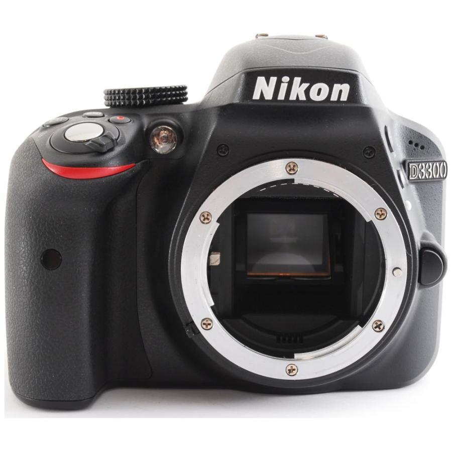 カメラ 一眼レフ Nikon ニコン D3300 ブラック 18-55mm レンズキット|cameracantik|02