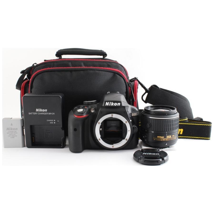 カメラ 一眼レフ Nikon ニコン D3300 ブラック 18-55mm レンズキット|cameracantik|08