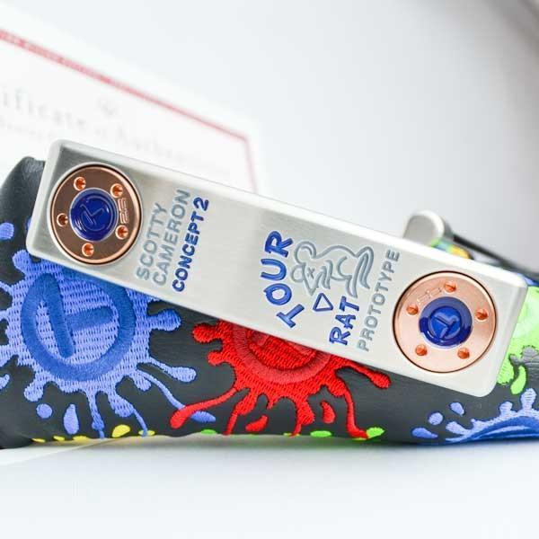 スコッティキャメロン ツアーパター ツアーラット Concept 2 SSS Translucent ブルー 25g サークルT sole weight