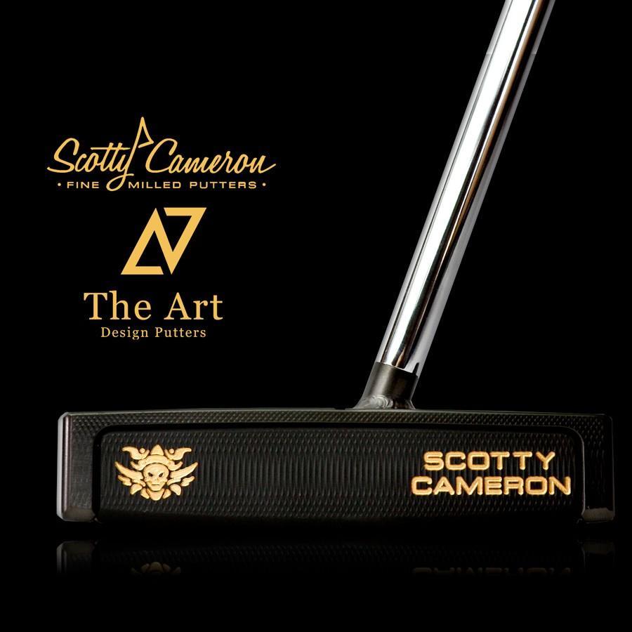 スコッティキャメロン カスタムパター FUTURA X7M ( Monster Skull ) 溶接 ネック センターシャフト ブラック & ゴールド