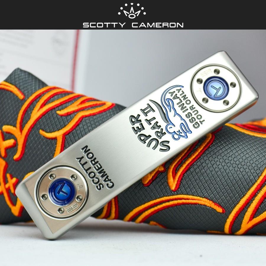 スコッティキャメロン ツアーパター スーパーラット II in SSS GSS inlay 25g タングステンソールウェイト ブルー